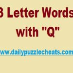 3 Letter Words with Q