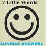 7 Little Words Sunrise Level 37 Answers