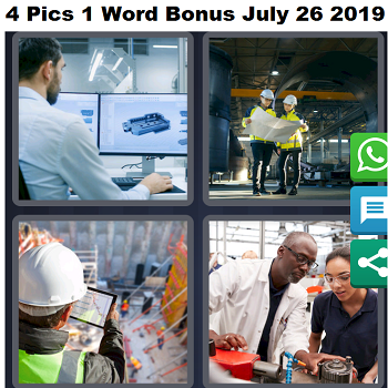 4 Pics 1 word Bonus July 26 2019 answer