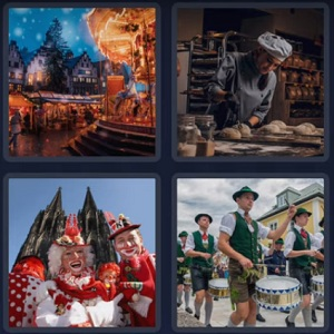 4 pics 1 word bonus July 2 TRADITION