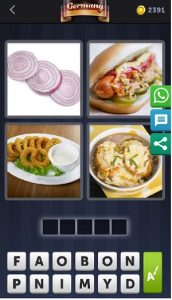 4 pics 1 word July 2 answer is Onion