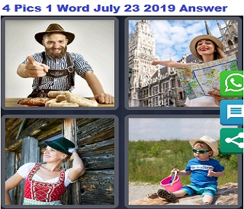 4 pics 1 word July 23 2019 answer