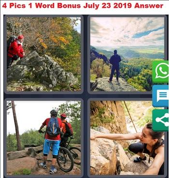 4 pics 1 word bonus July 23 2019 Answer