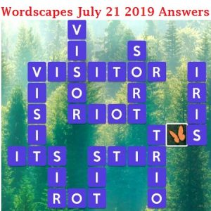 Wordscapes July 21 2019 Answers
