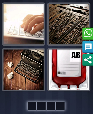 4 Pics 1 Word Bonus puzzle August 5 2019 answer is Type