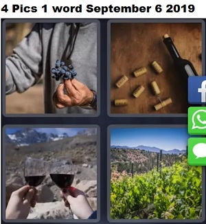 4 pics 1 word September 6 2019 answer