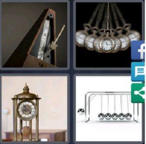 4 Pics 1 word daily bonus puzzle April 24 2020 answer is PENDULUM
