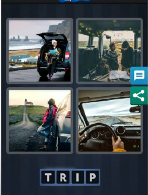 4 Pics 1 word August 24 2020 daily puzzle answer is trip