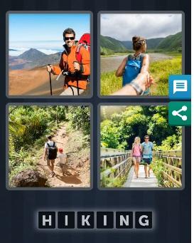 4 pics 1 word bonus answer hiking