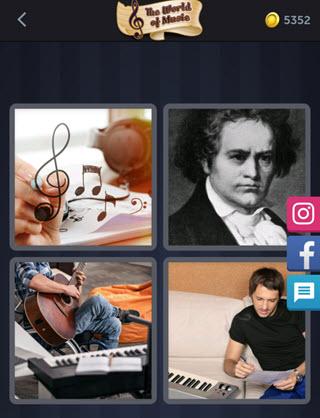 4 Pics 1 Word bonus puzzle answer - COMPOSER